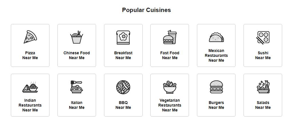 restaurant directory listing
